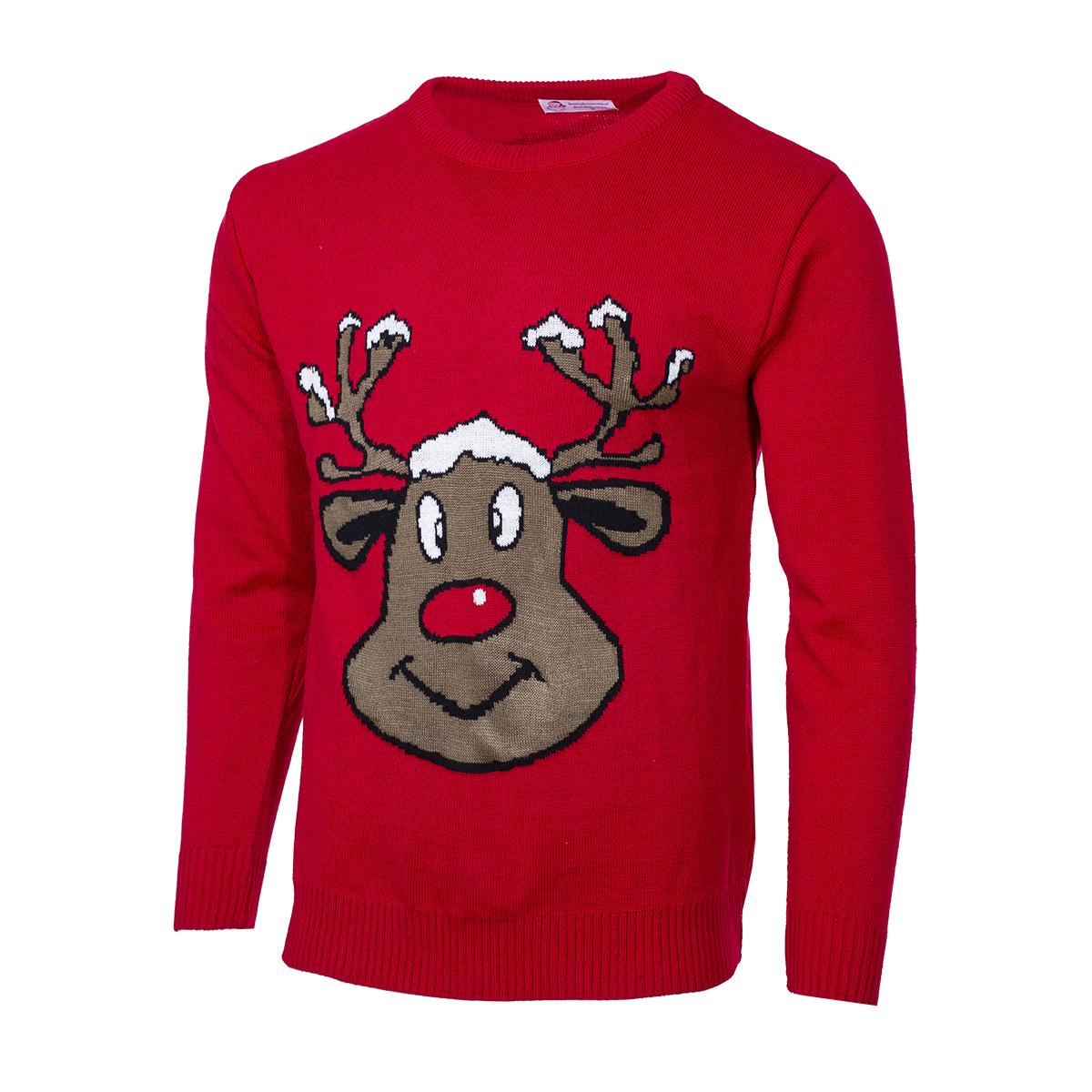 Pánský svetr se sobem Reindeer červený S