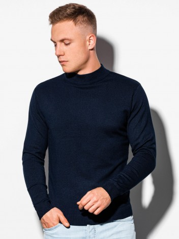 Ombre Clothing Moški pulover Luca navy