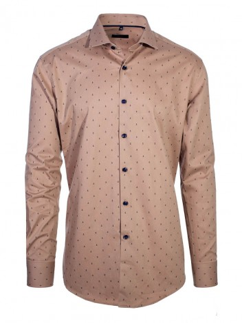 Mens Shirt Rower Brown size 38